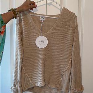 NWT- Princess Polly Tan Sweater